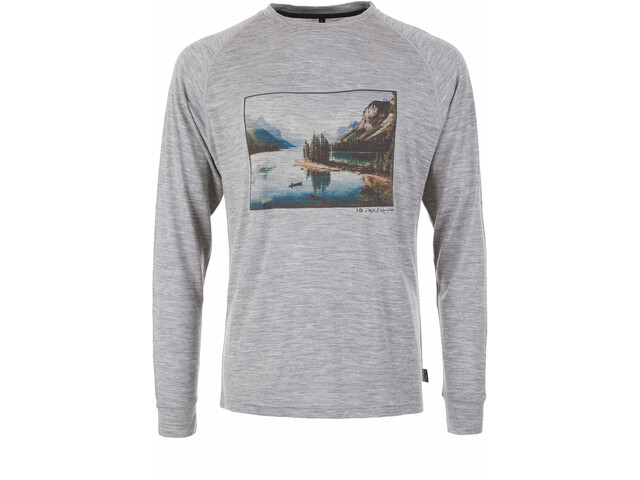 Pally'Hi Canoe and View Langærmet T-shirt Herrer, heather grey